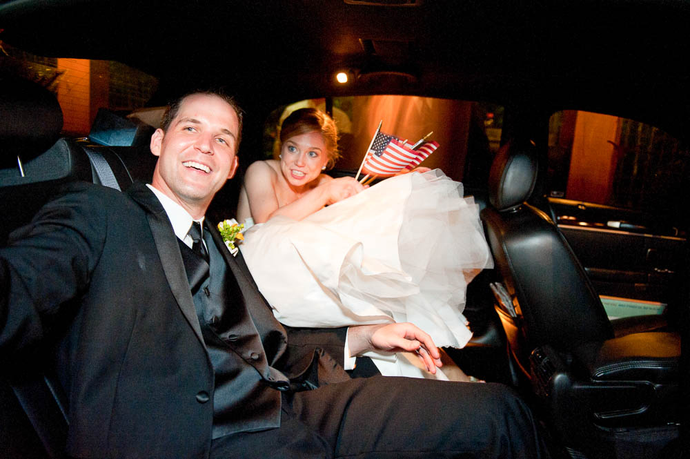 couple waving bye