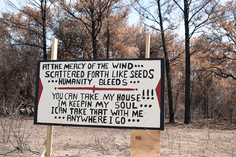 at the mercy of the wind,  bastrop 2011, fires, austin journalism photography, photodocumentary