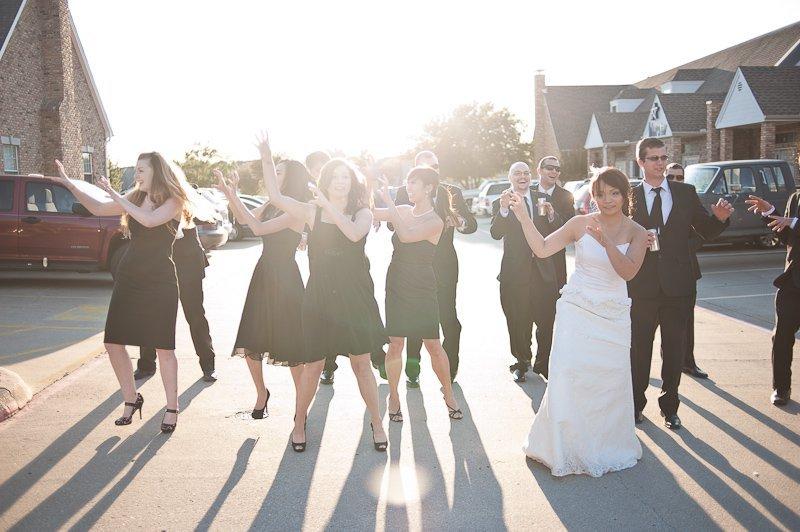 zombie thriller wedding dance practice
