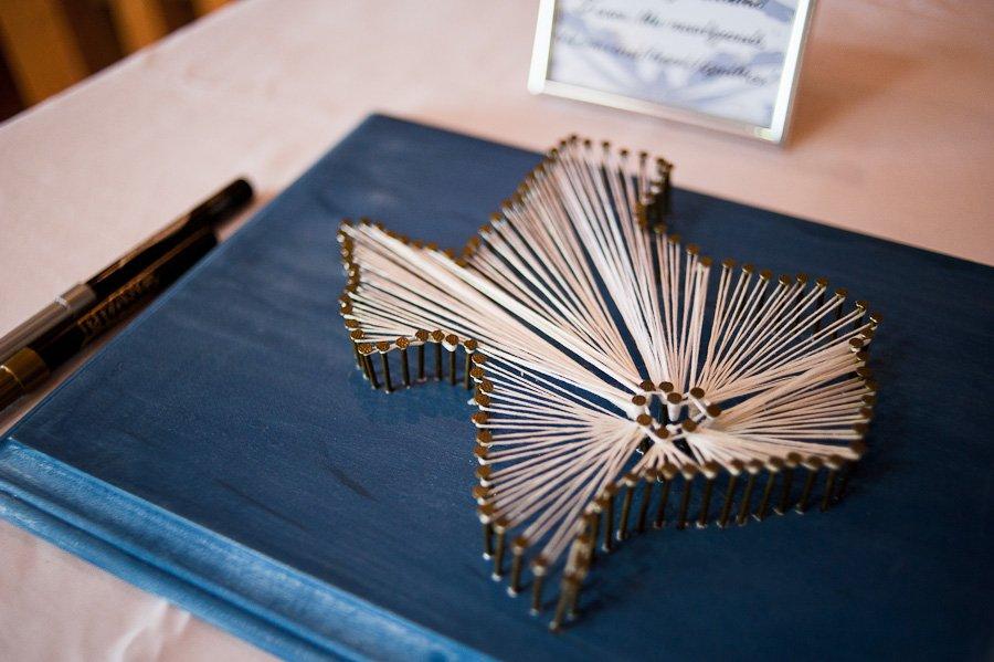Texas String And Nails Diy Guestbook