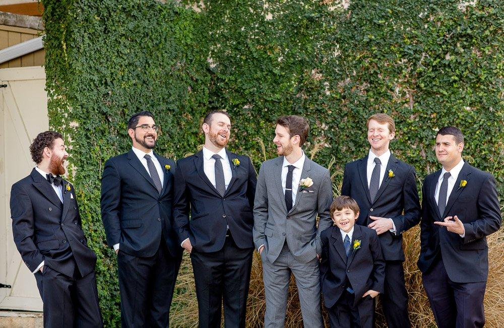 natural groomsmen portraits