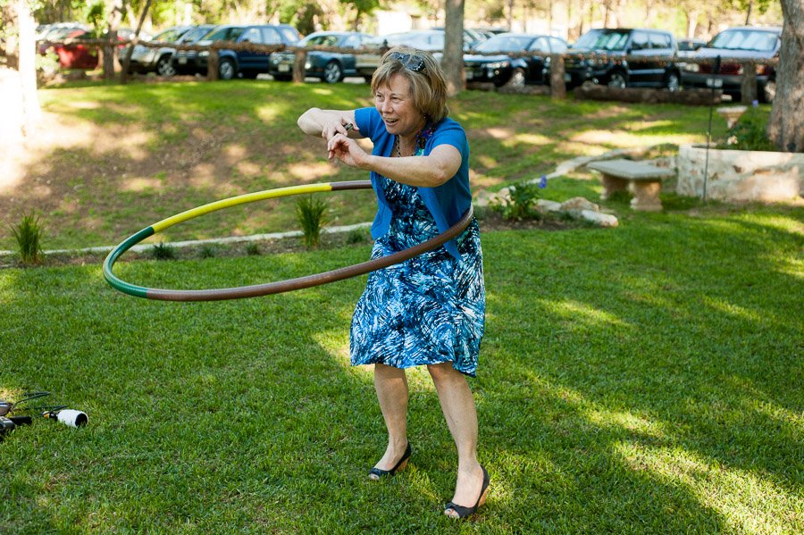 hula hooping at cedar bend events center