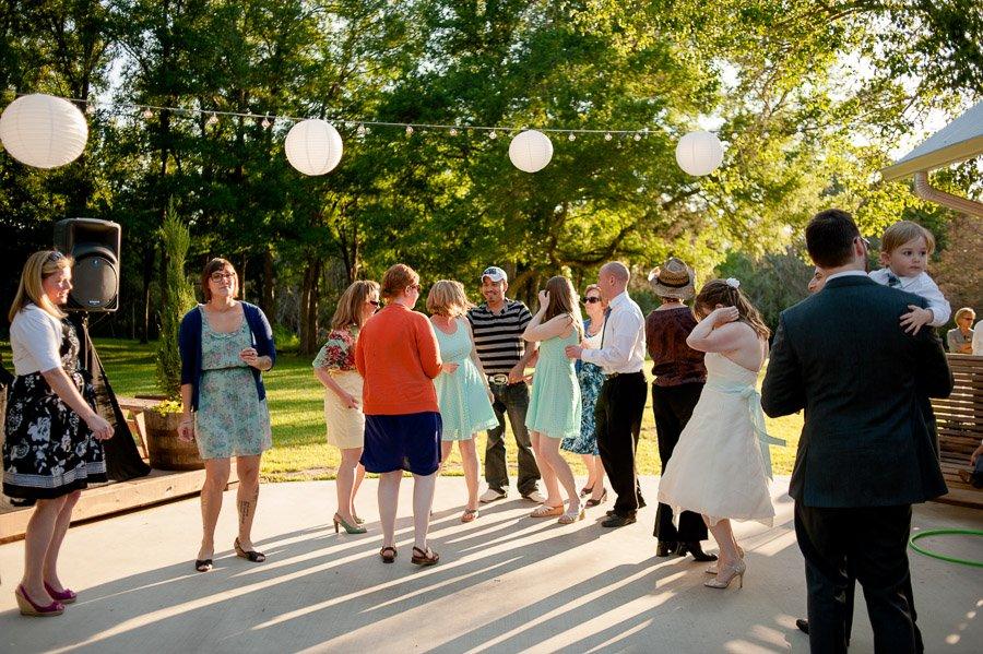80s dance party reception, cedar bend events wedding reception, sunset reception at cedar bend