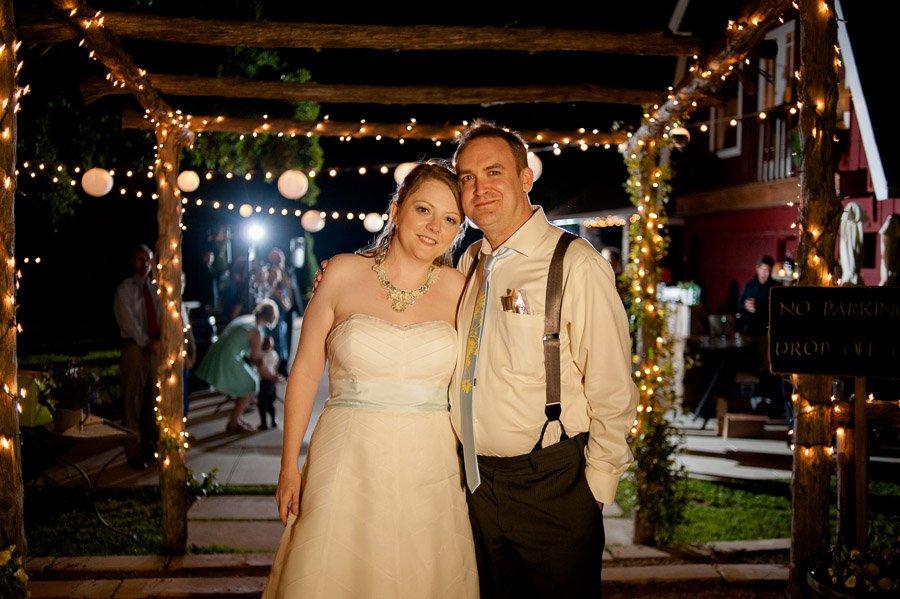 twinkle lights wedding portrait, grand exit portraits cedar bend events