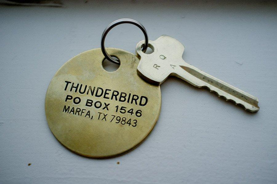 thunderbird hotel room keys