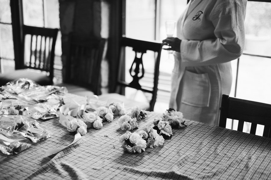boutonnière display at red corral