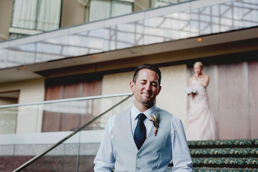 first look, omni hotel, downtown austin wedding, sneak preview, parkside austin wedding, austin wedding photographer journalist