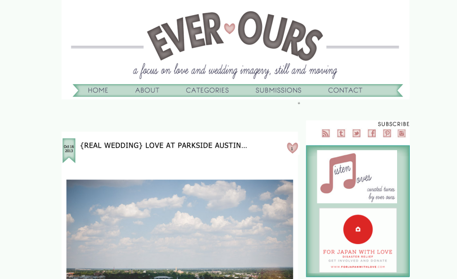 wedding blog feature listing, ever ours featured, featured on wedding blogs, austin wedding photographer blog feature, ever ours featured photographers, featured on ever ours wedding blog