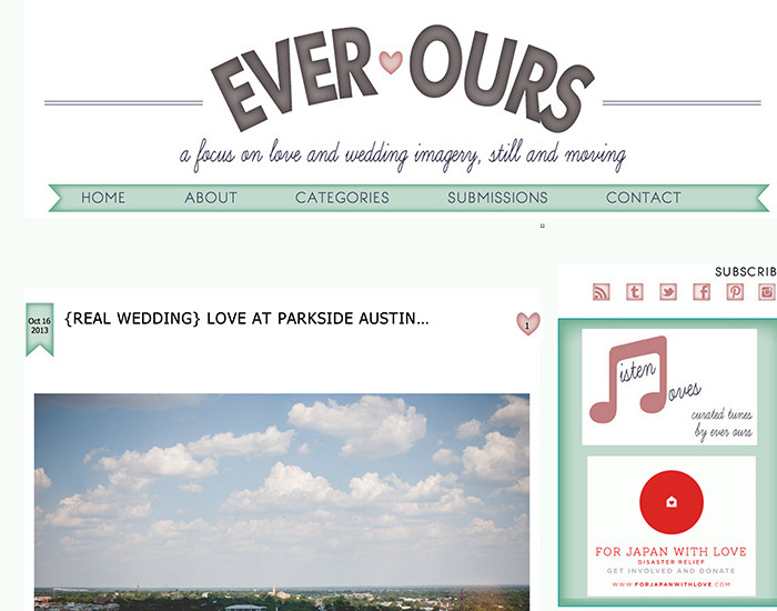 Featured on the blog Ever Ours!