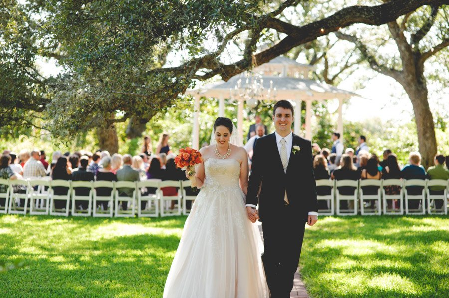 bride and groom processional