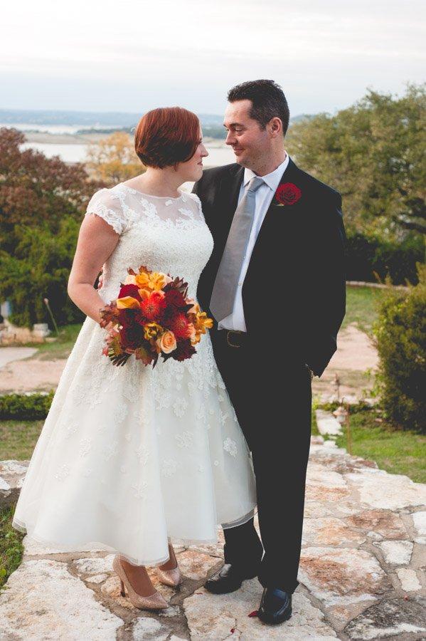 austin fall backyard elopement