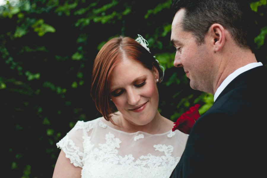 elopement photography with tea length dress