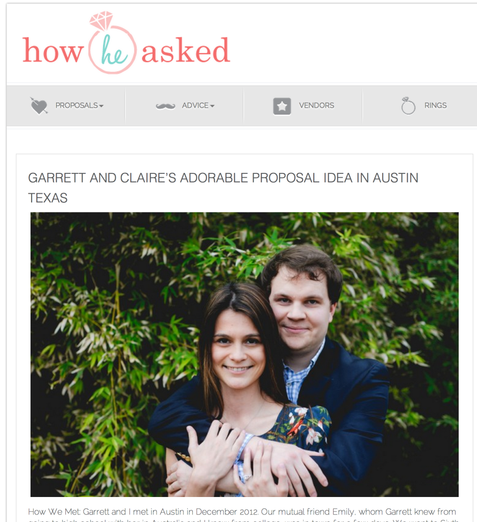 proposal photographer in Austin, surprise proposal photography in Austin texas