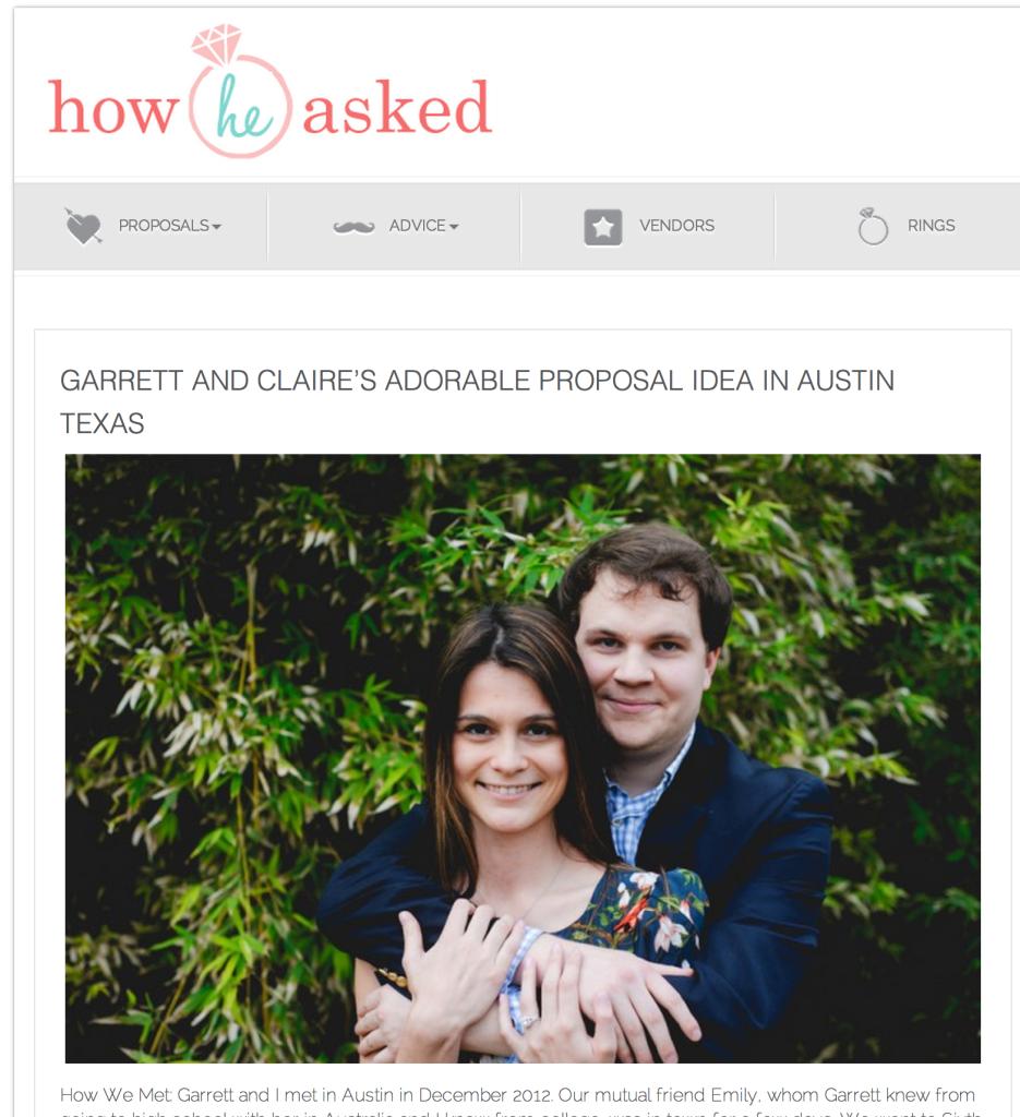 proposal photographer in Austin, surprise proposal photography in Austin texas
