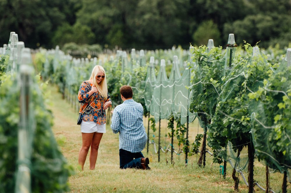 duchman wineries proposal photographer