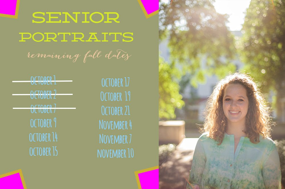 remaining fall dates for austin senior sessions