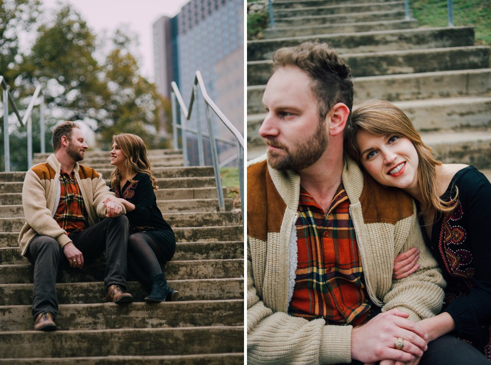 natural engagement photos in south austin, downtown austin engagement photos, laguna gloria wedding photographer, austin chic engagement photography