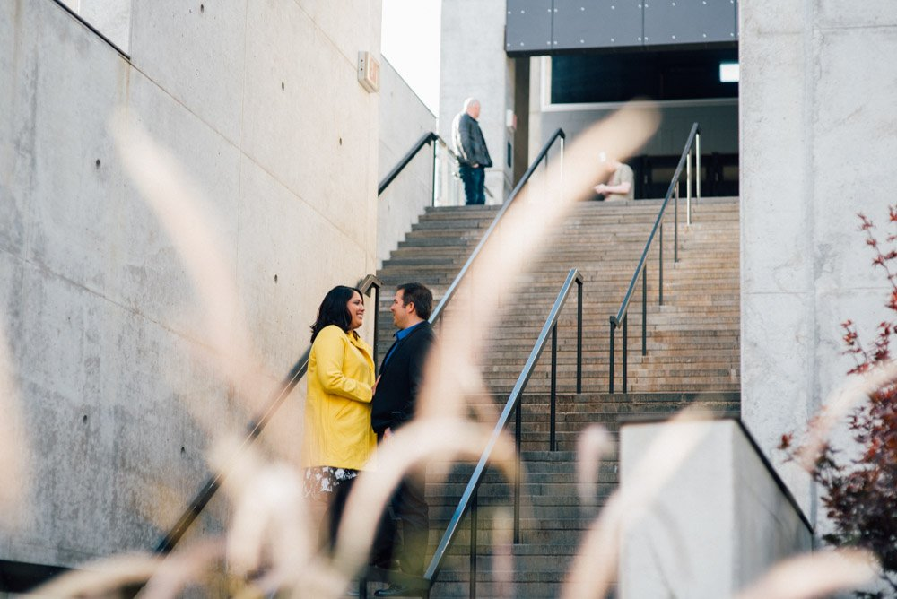 downtown austin engagement session, w hotel engagement portraits, modern austin portrait photography,