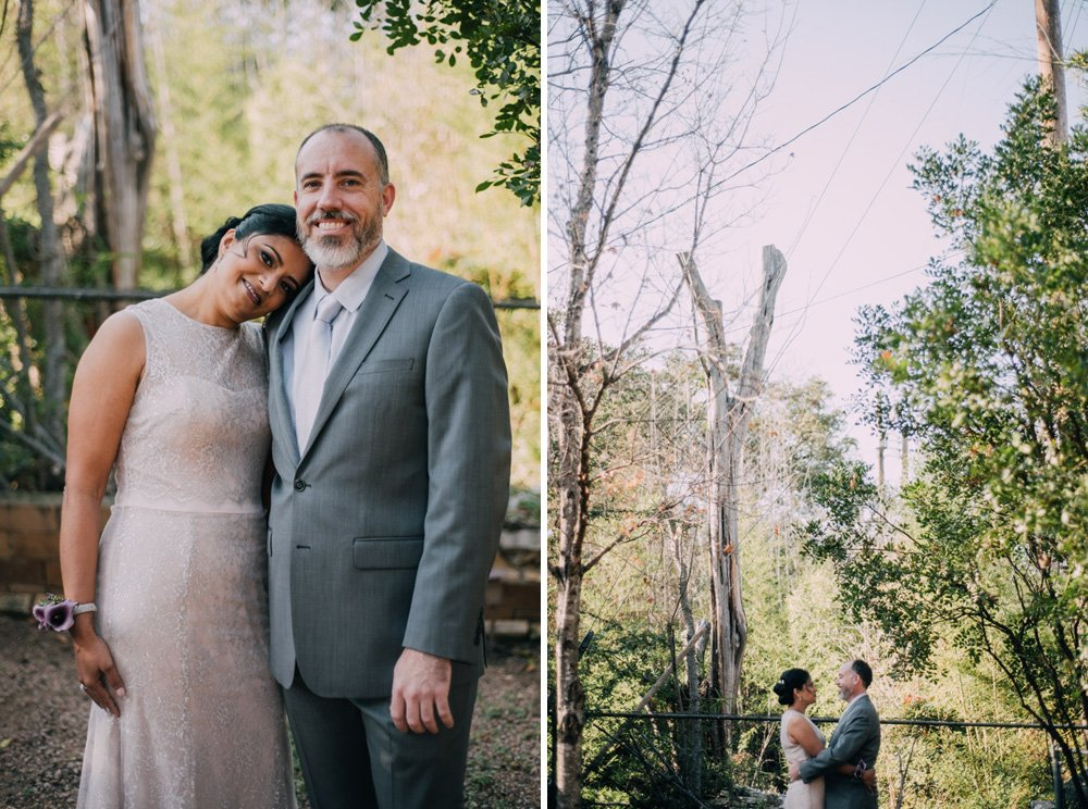 austin backyard wedding, portraits in austin backyard