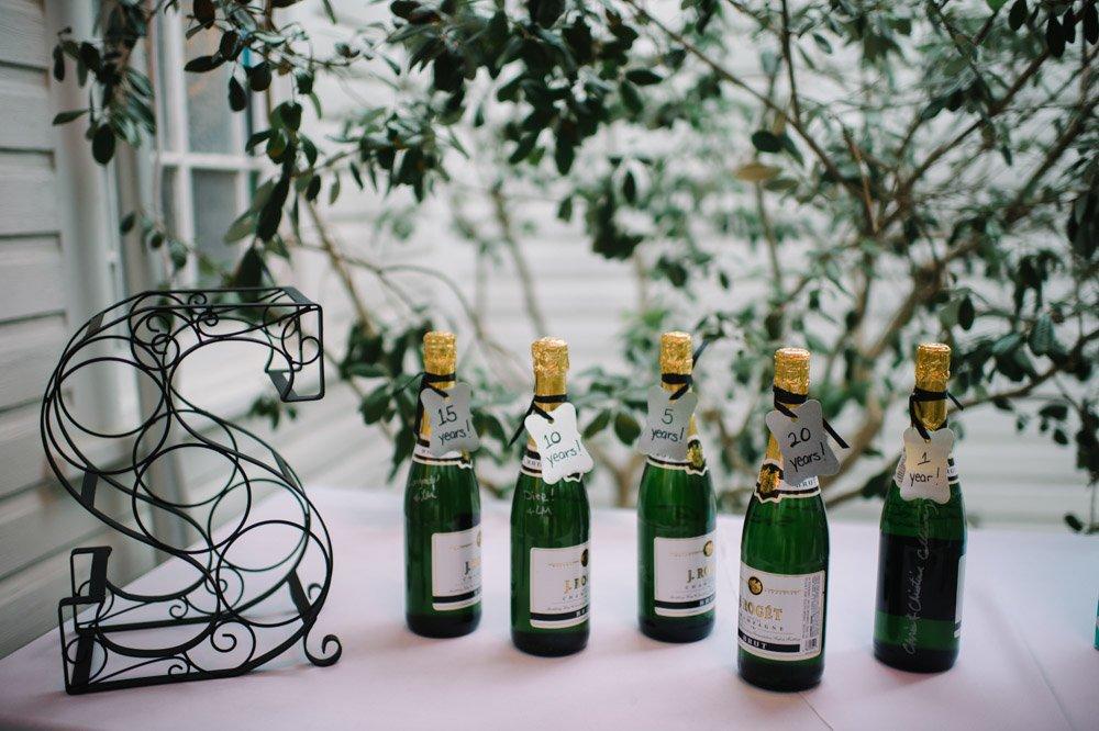 anniversary champagne bottles