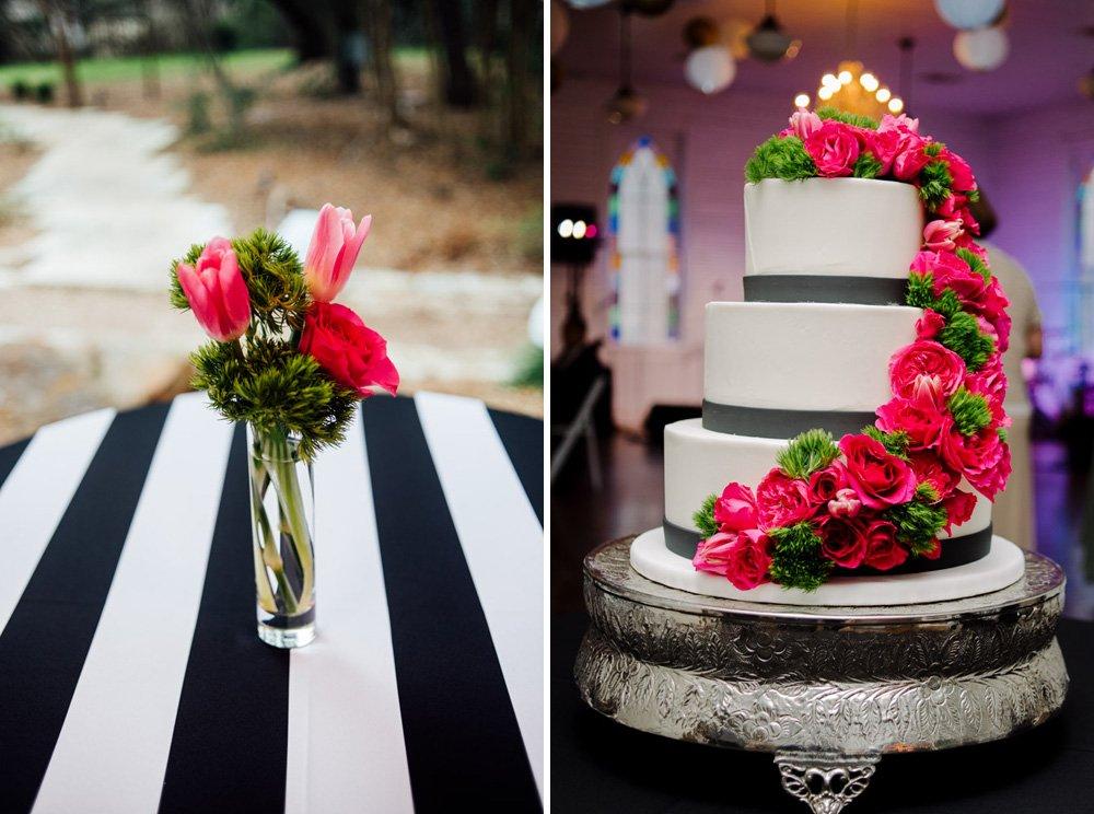 the cake plate modern wedding cake, modern wedding decor, modern wedding photography austin, austin contemporary wedding photography at mercury hall