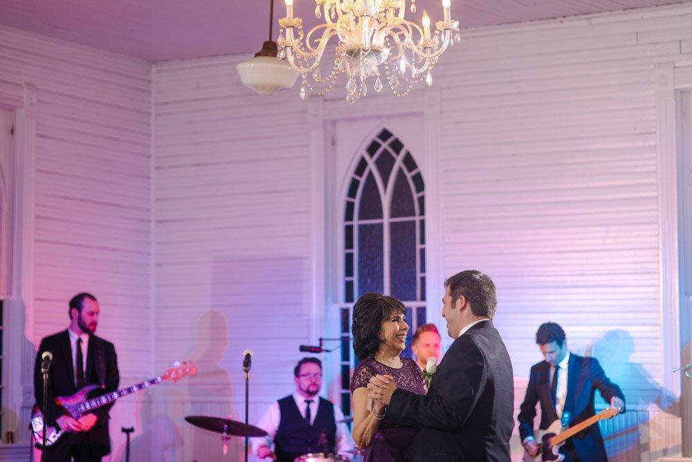wedding photojournalism at mercury hall, mother son first dance, mercury hall wedding photographer,