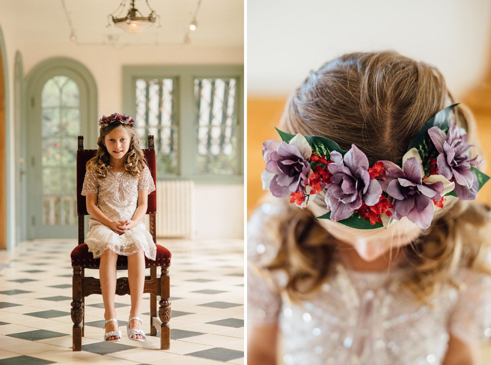 flower girl flower crown, laguna gloria wedding photography, spring flower girl ideas