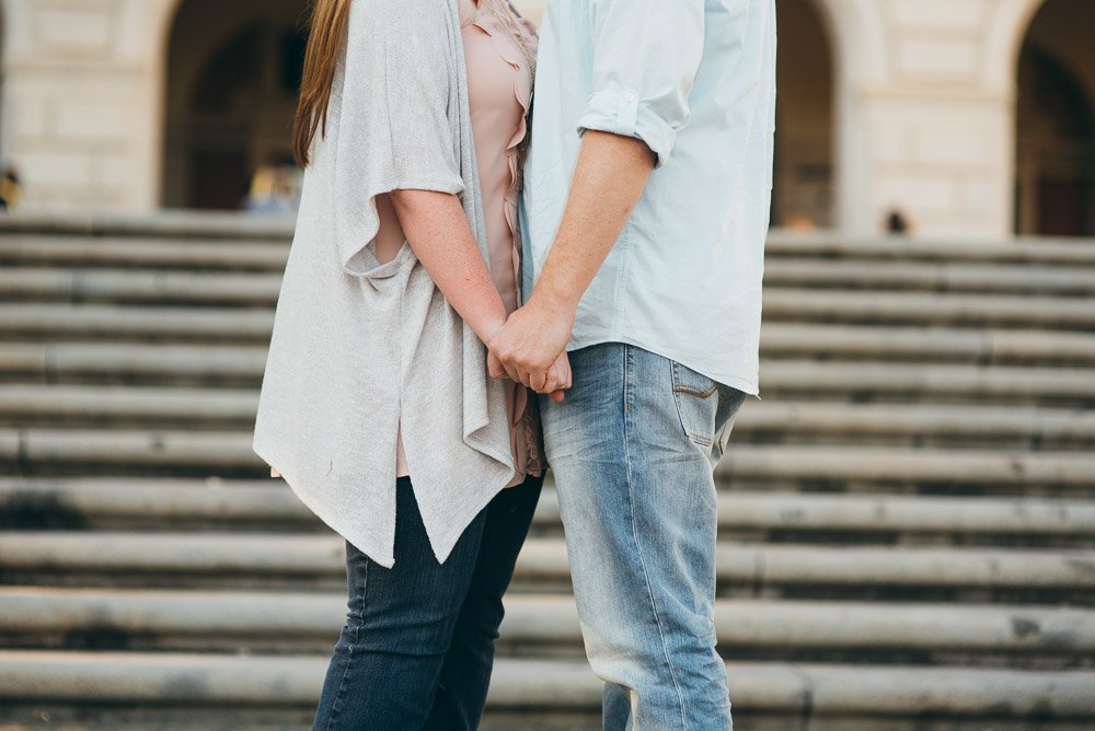 casual south austin engagement session, creative austin engagement session detail photograph, UT austin engagement photographs