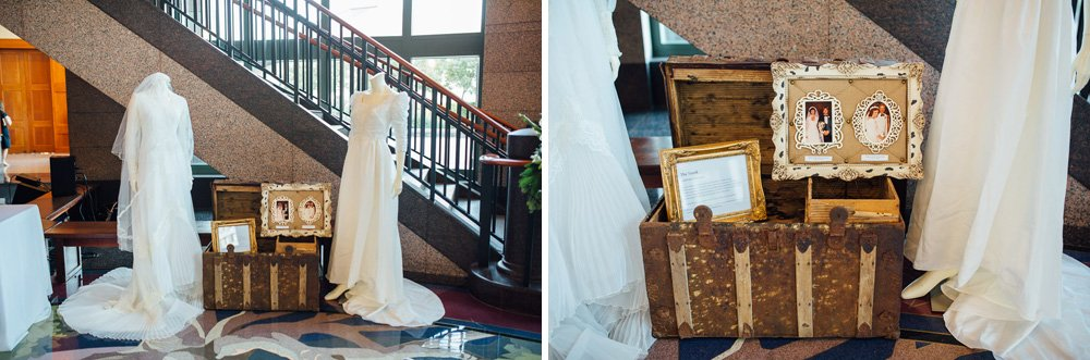antique family heirloom wedding dress display at bob bullock museum