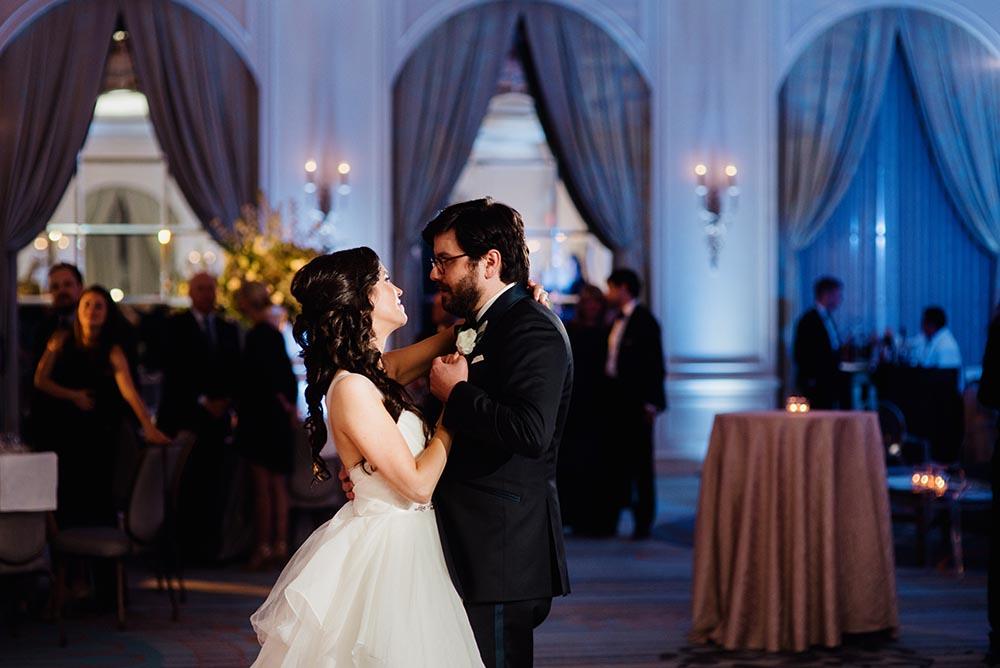 glamorous four seasons hotel wedding reception