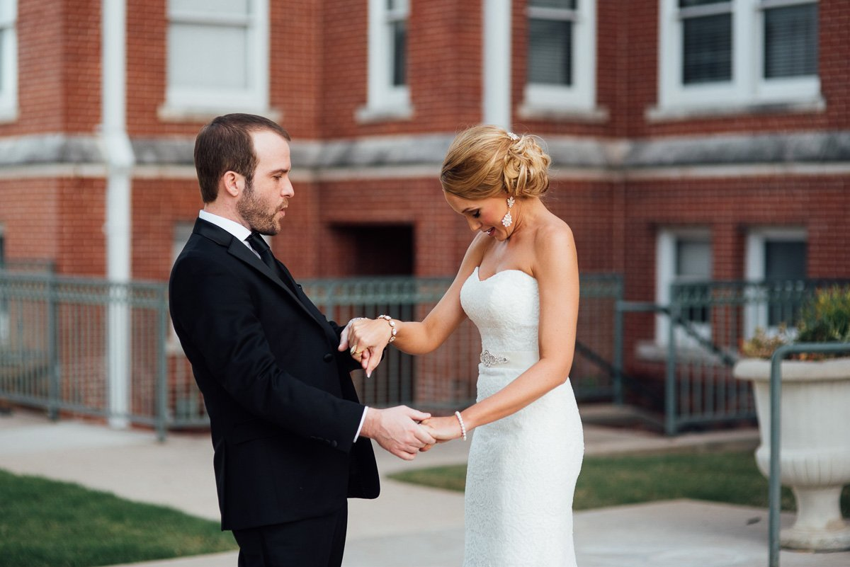 first look at the victory arts center fort worth wedding photography