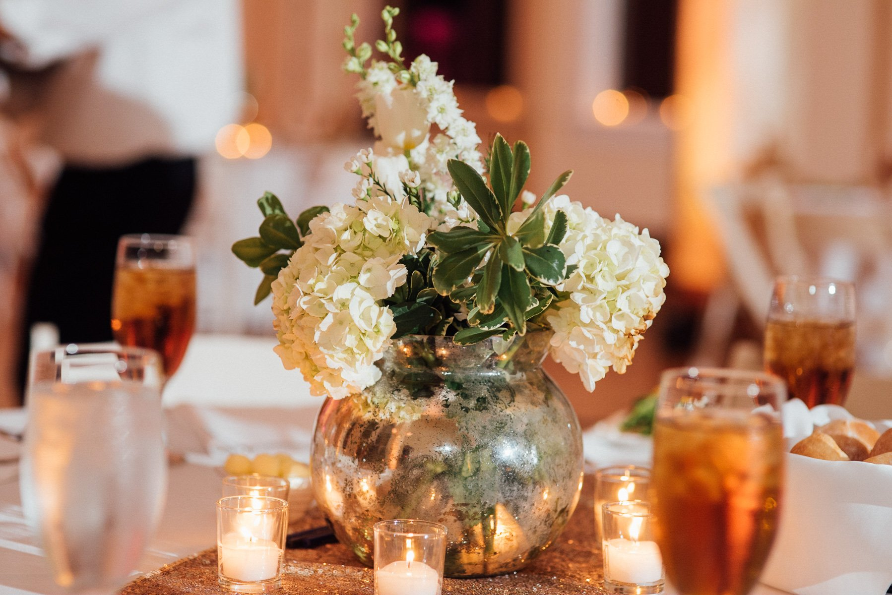 gold and white wedding at fort worth's victory arts center