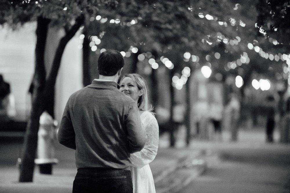christmas proposal photographer, surprise engagement, downtown austin engagement photos