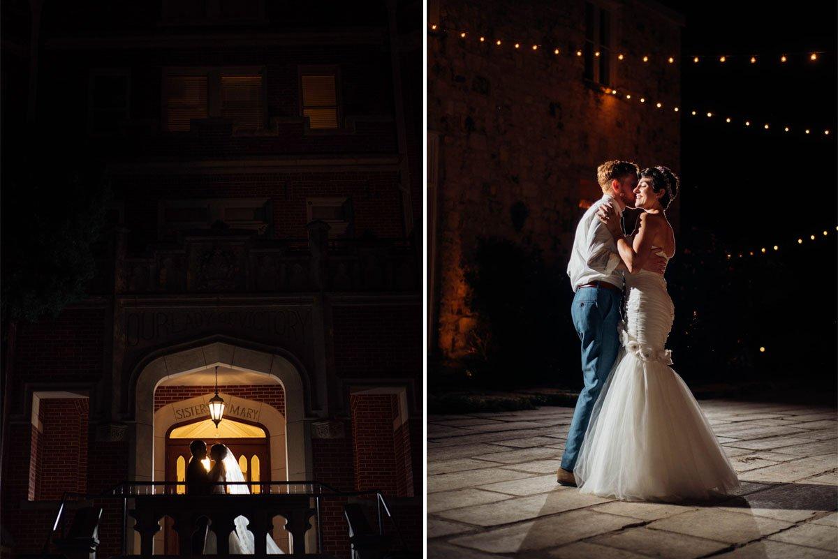 indie nighttime wedding photography