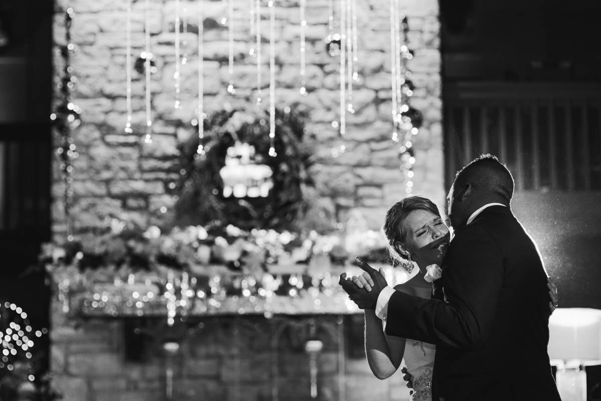 black and white austin wedding photography, black tie wedding in austin, emotional first dance wedding photography, best of New Year's Eve wedding, NYE Austin wedding, Luxurious glamorous austin wedding photography