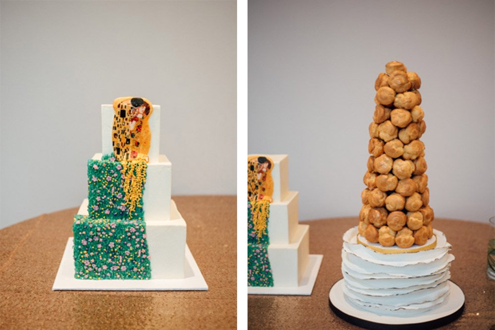 modern art wedding cake