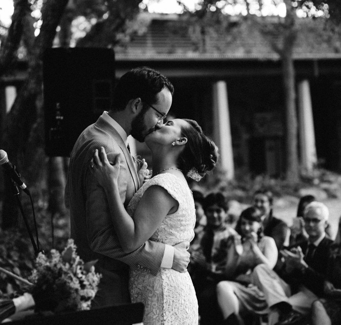 Laid Back Wildflower Center Wedding