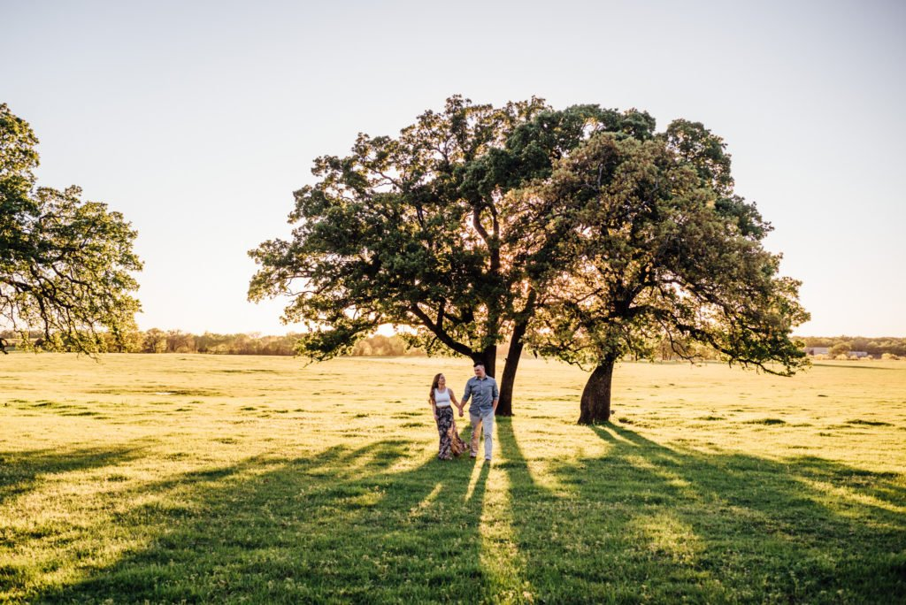 spring engagement session at classic oaks ranch texas