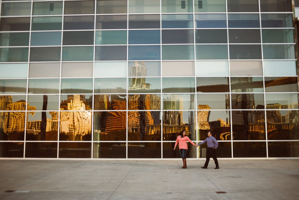 austin fall engagement session downtown at the long center