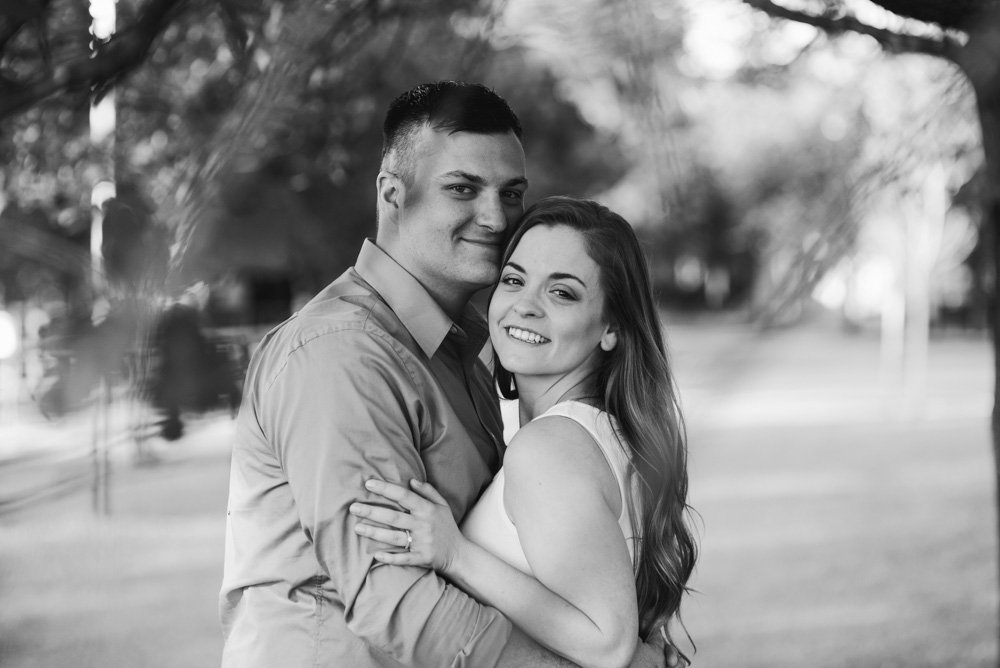 creative, natural light engagement session photographer in fort worth