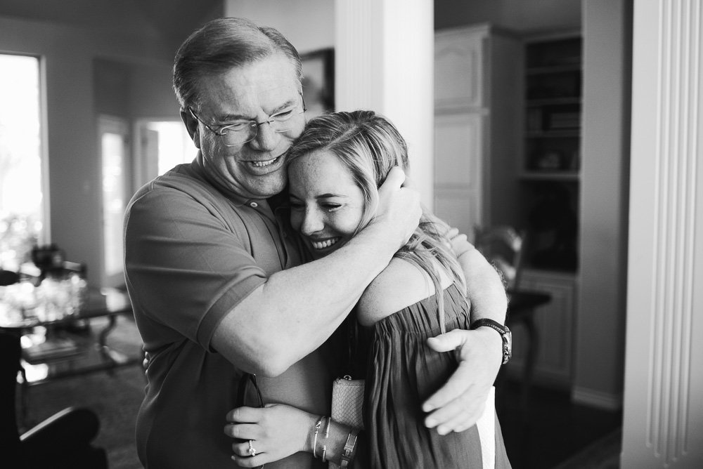 emotional black and white photographs of fathers and daughters, austin proposal photographer, destination proposal photography ,