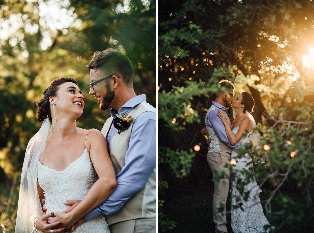summer wedding glowing sunset portraits, wildflower barn wedding, driftwood wedding venues, creative austin wedding photographer
