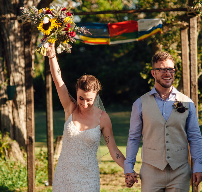 Eclectic summer Wildflower Barn wedding | Austin, Texas