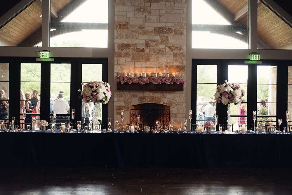 branching out event wedding details, pink floral details at laurel grapevine, grapevine wedding venues