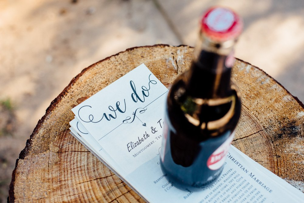 classic dr pepper bottle wedding details
