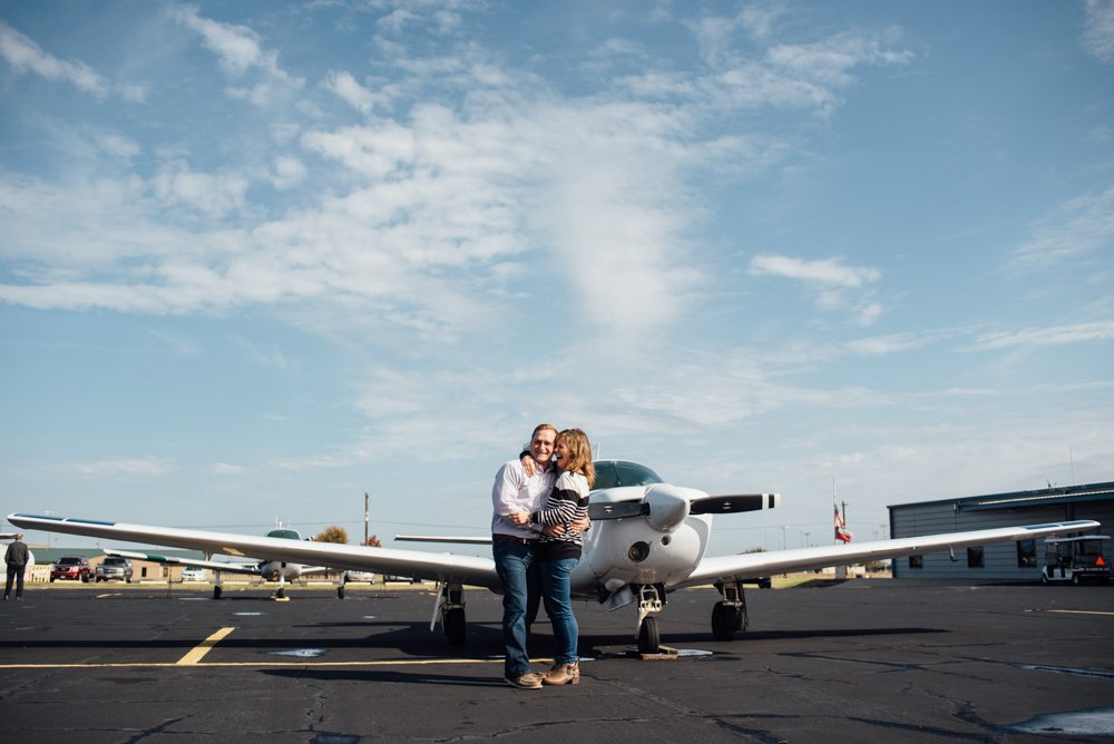 private airport surprise proposal photographer in austin texas
