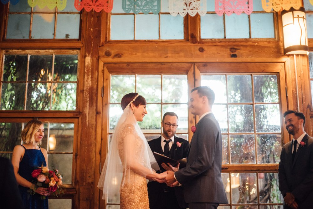 relaxed, colorful diy wedding at mckinney cotton mill