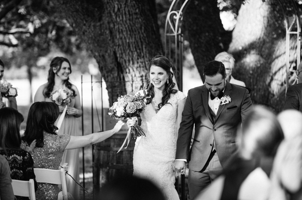 classic exit photograph from a fall wedding in san antonio texas