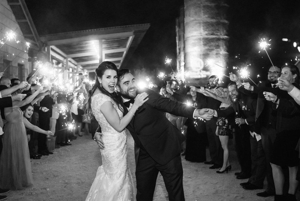 sparkler exit at a wedding in san antonio