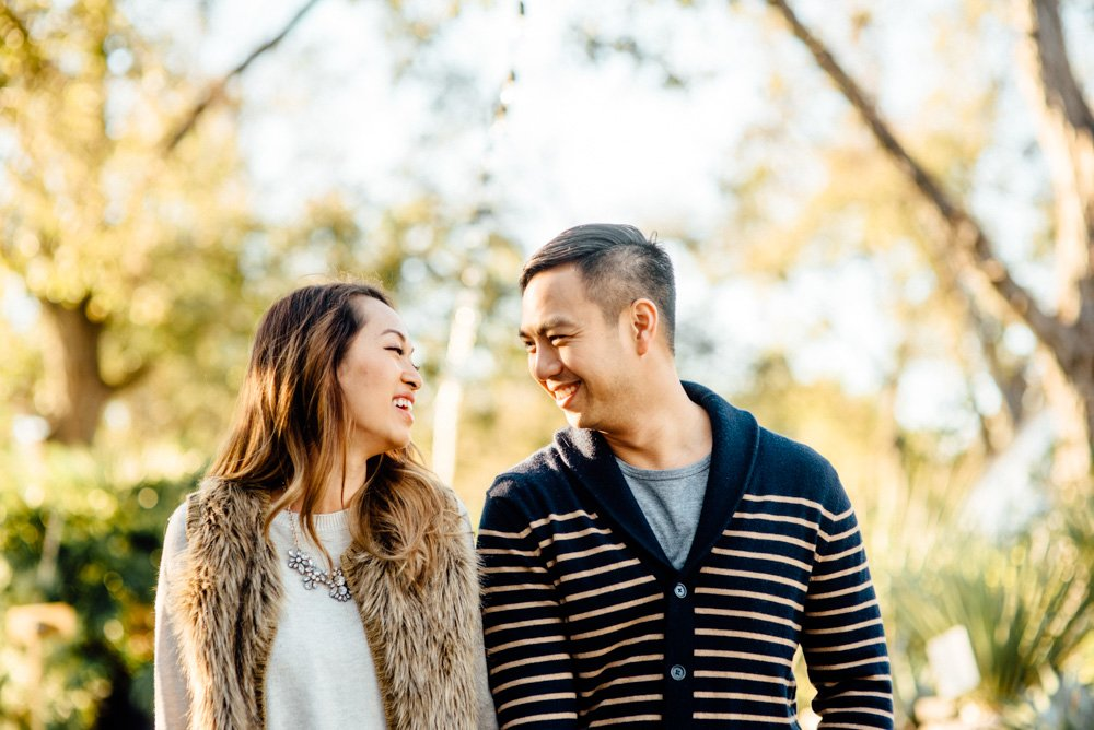 east austin engagement session during the winter